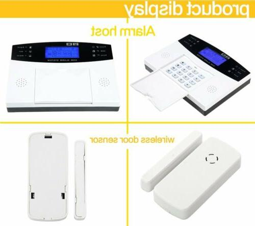Wireless LCD GSM Burglar Fire System Auto Security Safe HC
