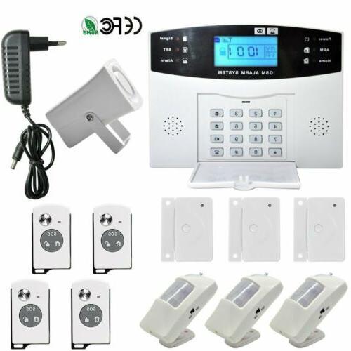 Wireless LCD Burglar Fire System Auto Dialer Safe