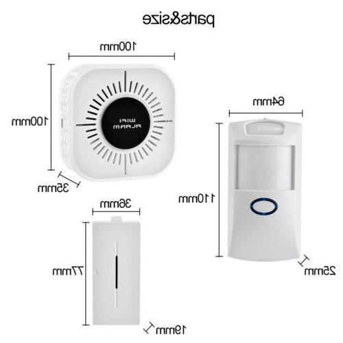 Wireless Alarm Home Wifi PIR Door Sensor
