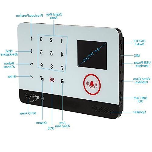 Alarm System + GSM Auto-dial Security System LCD Door Remote & Amazon