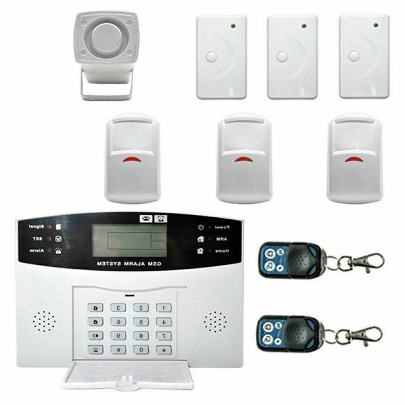 wireless smart gsm lcd 2g home security