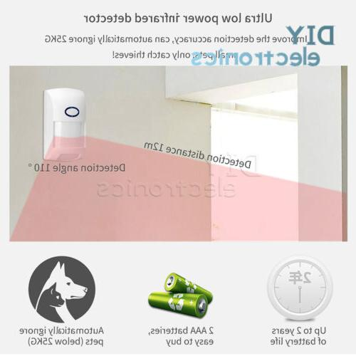Wireless Network Intelligent Home Alarm System Kit Tuya APP US