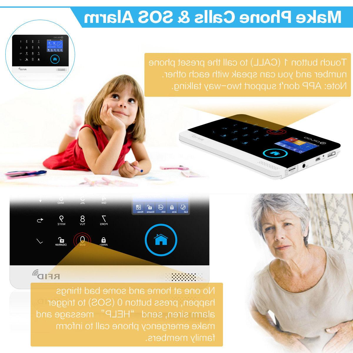 Digoo Wireless GSM SMS Smart Systems Android IOS