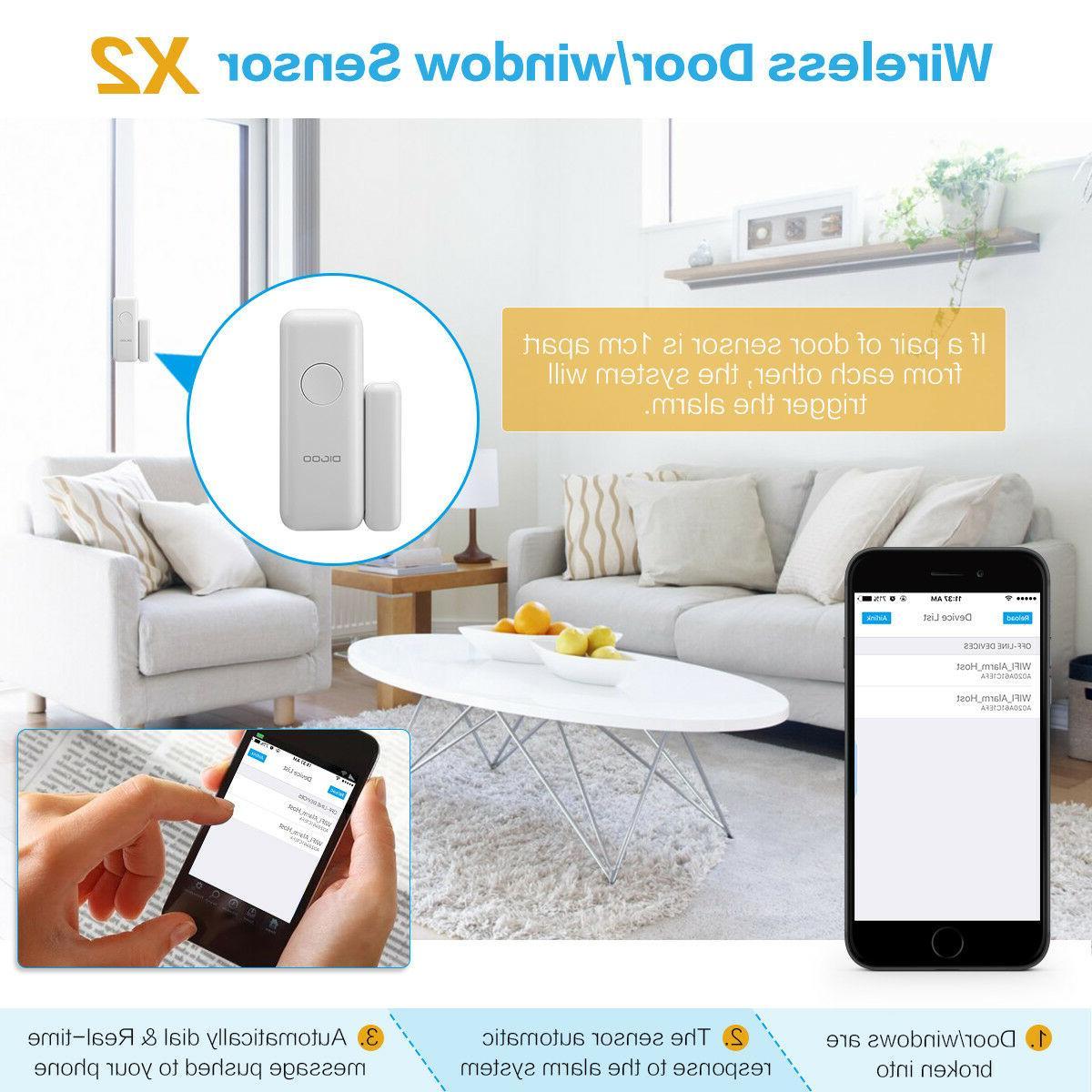 Digoo Wireless WiFi SMS Smart Burglar Alarm Systems Accessories Android