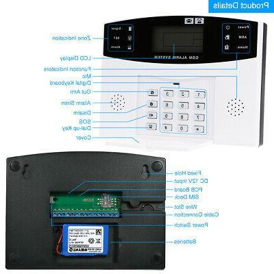 433MHz RF GSM SMS PIR Alarm Security T8C7