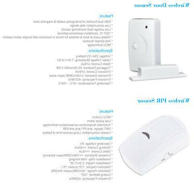 433MHz Wireless LCD GSM SMS Alarm System Home Security