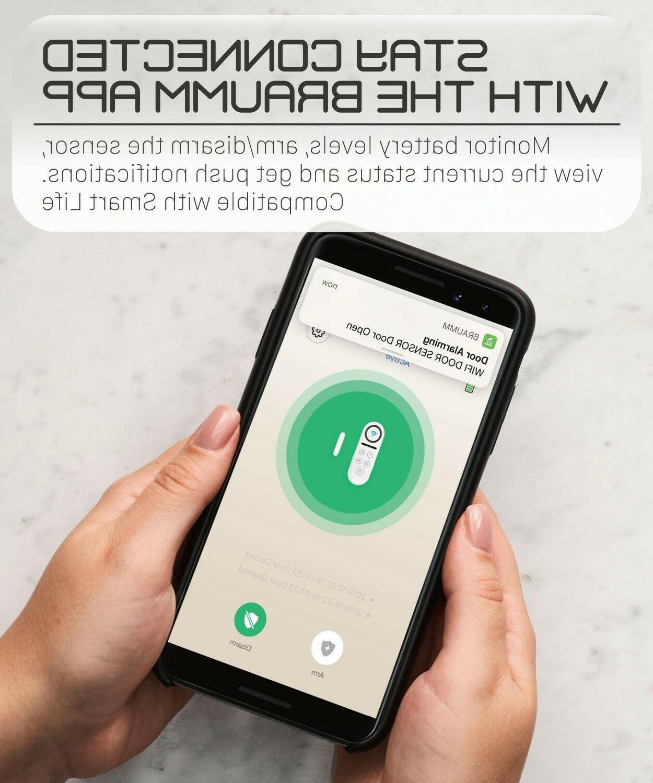 Wireless Wifi Smart Door Window Alarm Security System Chime