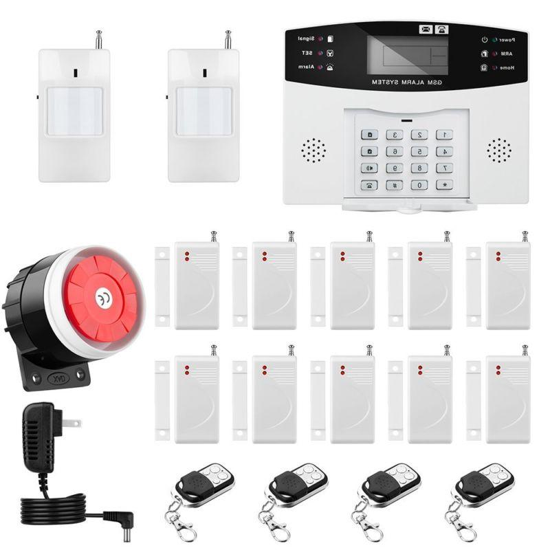 wireless wired gsm home house alarm system
