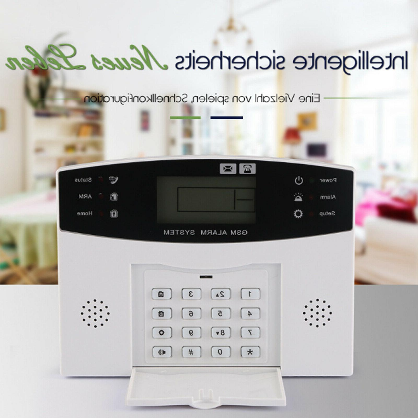 Wireless Wired EK GSM SMS House Alarm Security Burglar Sensors