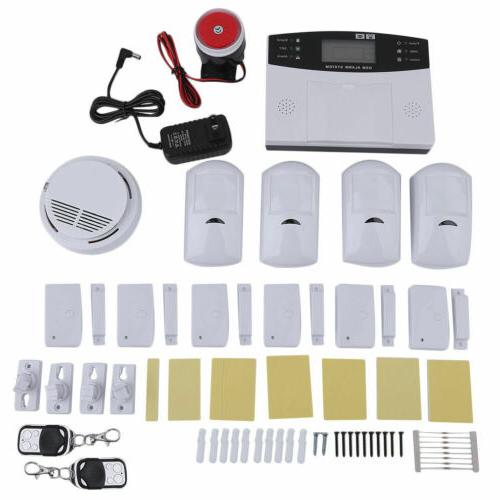 Wireless Wired GSM SMS House Alarm System Security Burglar EK