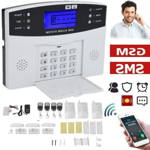 wireless wired lcd gsm sms home house