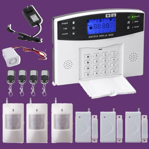 wireless wired lcd keypad gsm sms home