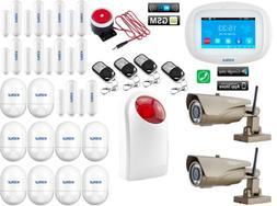 F44 KERUI WiFi GSM APP Wireless Home Security Alarm System+2