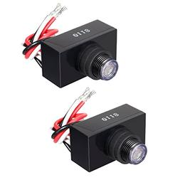 uxcell 2Pcs Light Control with Photocell, Dusk To Dawn Light