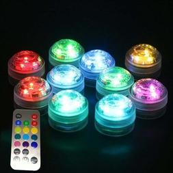 Lights & Lighting - 1x 10x Remote Control Submersible Led Ca