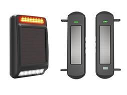 HTZSAFE 1/2 Mile Long Range Wireless Driveway Alarm Solar Wi