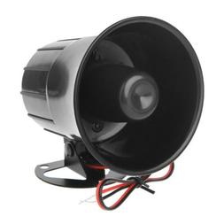 Loud Alarm Siren Horn PA Speaker Home Security System Outdoo