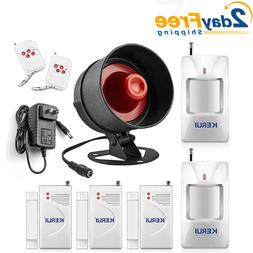 Loud Wireless Siren Horn Security Alarm System Motion Sensor
