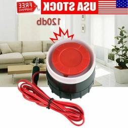 Mini 120dB Loud Wired Indoor Alarm System Home Security Stro