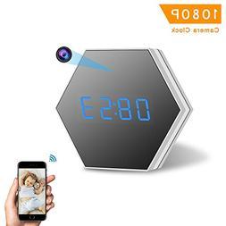 Mini Camera Clock-ENKLOV HD 1080P WiFi Smart Mirror Clock wi