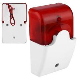 12V Mini Sound-light Fire Alarm Strobe Flashing Light Siren