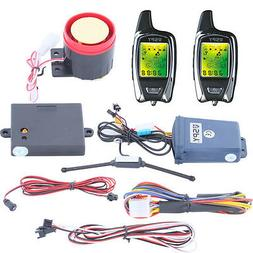SPY 5000m 2 Way LCD Motorcycle Alarm System with Remote Engi