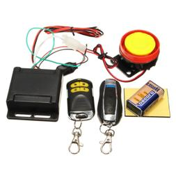 Motorcycle Scooter Security Alarm System Anti-theft 2Remote