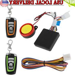 Motorcycle Security Alarm System Anti-theft Remote Control E