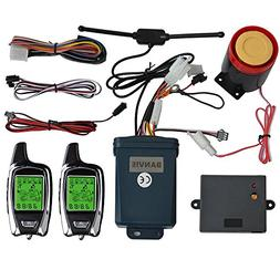 BANVIE 2 Way Motorcycle Security Alarm System with Remote En