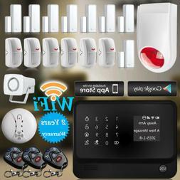 NEW WiFi GSM GPRS Home Burglar Alarm System IOS/Android APP