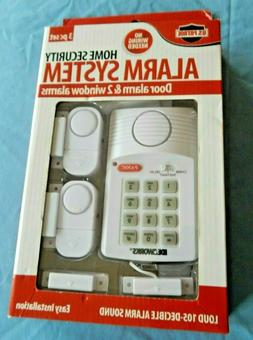 Loud Wireless Security System Door 2 Window Sensors Alarm Pr