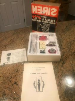 NOS Vintage SIREN model-100 burglar fire alarm system. See p