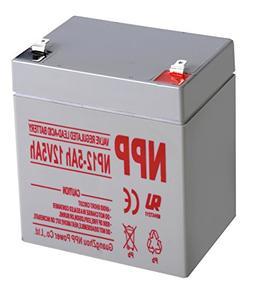 NPP NP12-5Ah 12V 5Ah Rechargeable Sealed Lead Acid Battery F