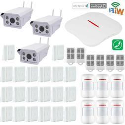 O37 KERUI APP WIFI PSTN Wireless Home Security Alarm System+