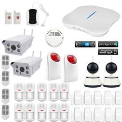 O45 KERUI WiFi PSTN Wireless Kits Home Security Alarm System