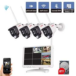 Tonton All-in-One Full HD 1080P Security Camera System Wirel