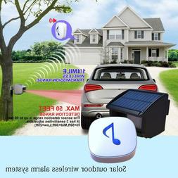 Outdoor Wireless Alarm Weatherproof Motion Sensor Security A
