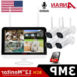 ANRAN Outdoor Wireless Security WiFi Camera System CCTV 1080