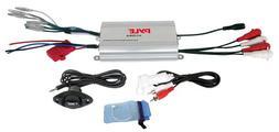 Pyle PLMRMP3A 4 Channel Waterproof MP3- Ipod Marine Power Am