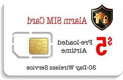 $5 Prepaid Alarm GSM SIM Card for GSM Home Security Alarm Sy