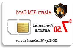 $7.50 Prepaid Alarm GSM SIM Card for GSM Home Security Alarm