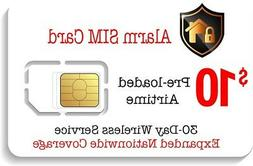 $10 Prepaid Alarm SIM Card for GSM Home Security Alarm Syste
