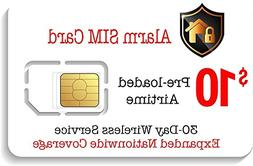 Alarm SIM Card for GSM Home/Business Security Alarm System -