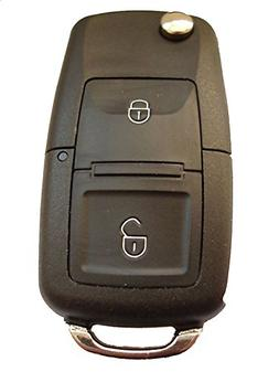Replacement 2 Buttons Flip Key Case for Vw Volkswagen Golf M