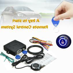 RFID Car Alarm System With Push Button Start Lock Ignition K