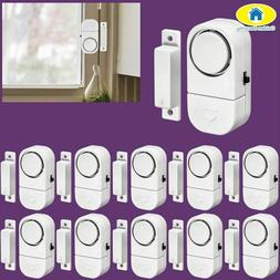 Security System 10Pcs 90dB Wireless Home Window Door Burglar