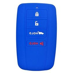 Coolbestda Silicone 4 Buttons Smart Key Fob Remote Cover Cas