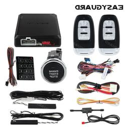 EASYGUARD Smart Keyless entry car alarm system remote engine