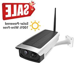 Solar-Powered Battery Security Camera, NexTrend Wire-Free Wi