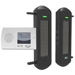 solar wireless driveway alarm perimeter